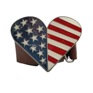American Flag buckle and belt strap